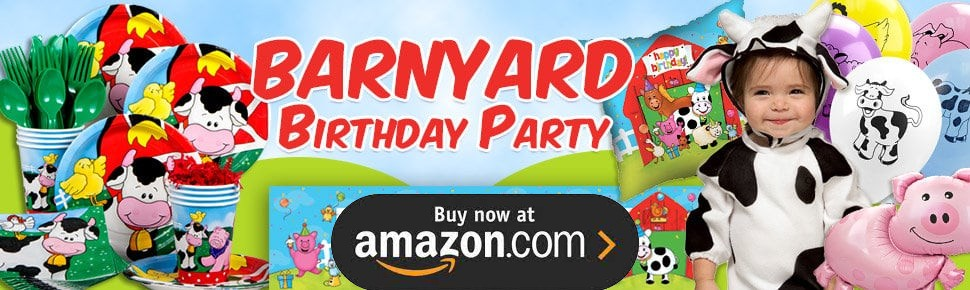 Barnyard Personalized Party Supplies