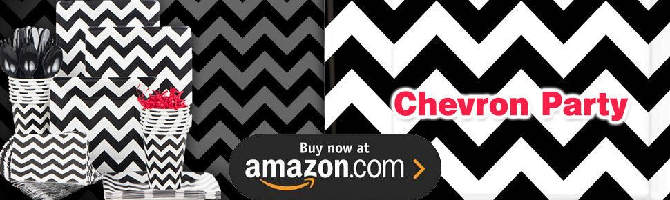 Black and White Chevron - Design Your Own Party Supplies
