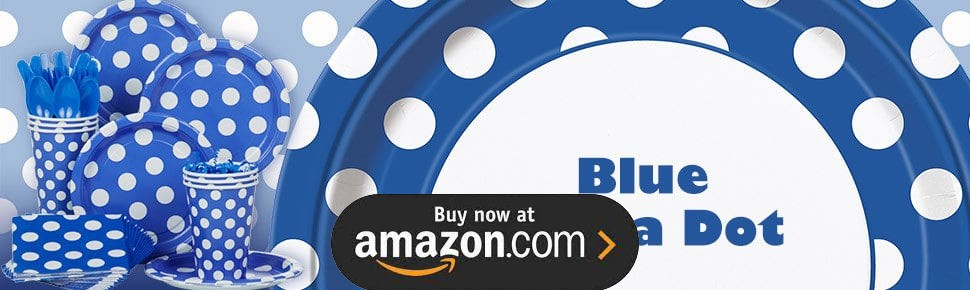 Blue and White Dot Design Your Own Party Supplies