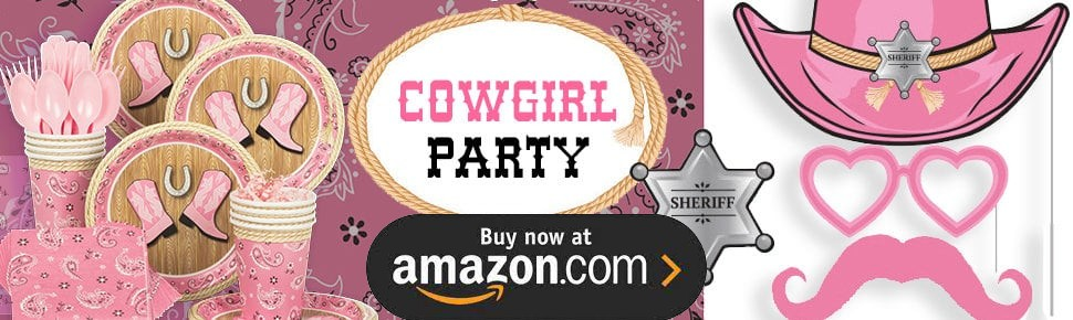 Pink Cowgirl 1st Birthday Party Supplies