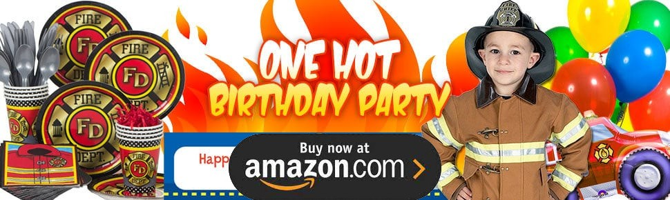 Fire Trucks Personalized Party Supplies