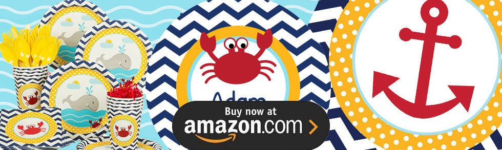 First Birthday Little Sailor Nautical Party Supplies