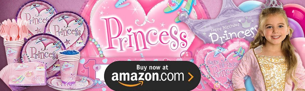 First Birthday Princess Party Supplies