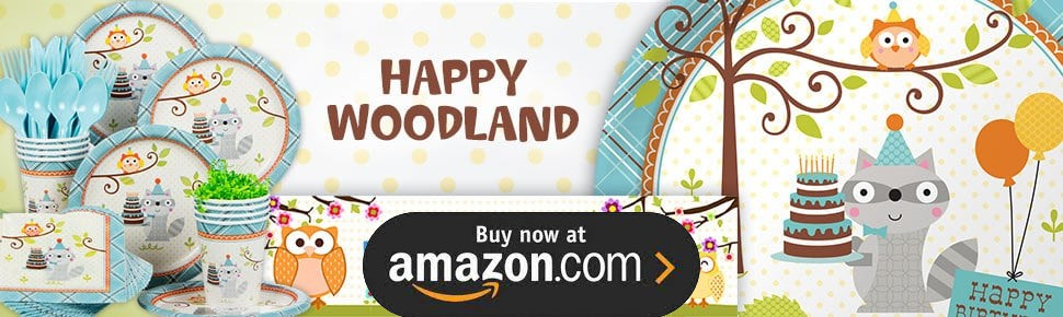 Happy Woodland Boy Party Supplies