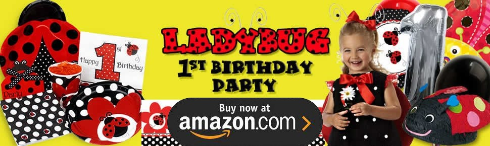 Lady Bug 1st Birthday Party Supplies
