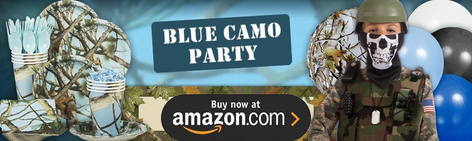 Light Blue Camo Party Supplies