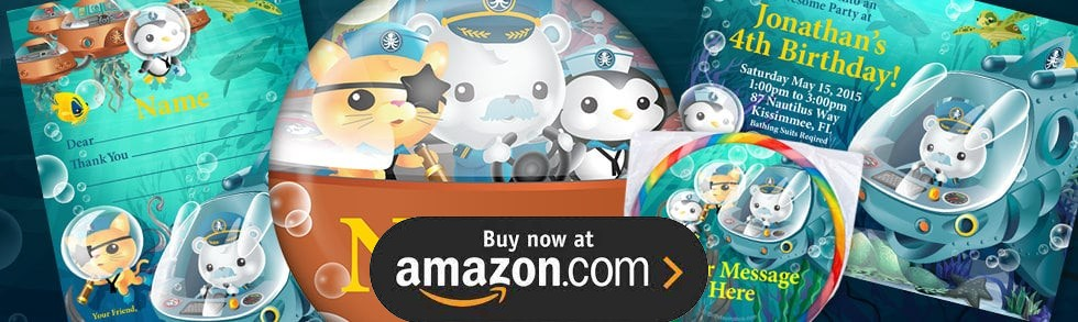 The Octonauts Personalized Party Supplies