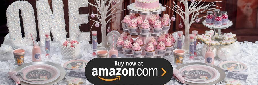 Pink Winter ONEderland Party Supplies