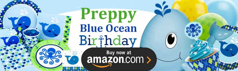Preppy Blue Ocean Party Supplies