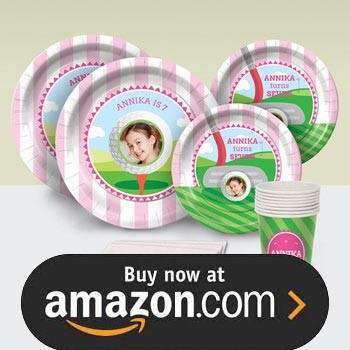 Tee Time Pink Party Supplies